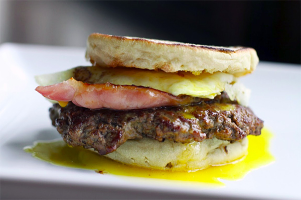The Eggs Benedict Burger