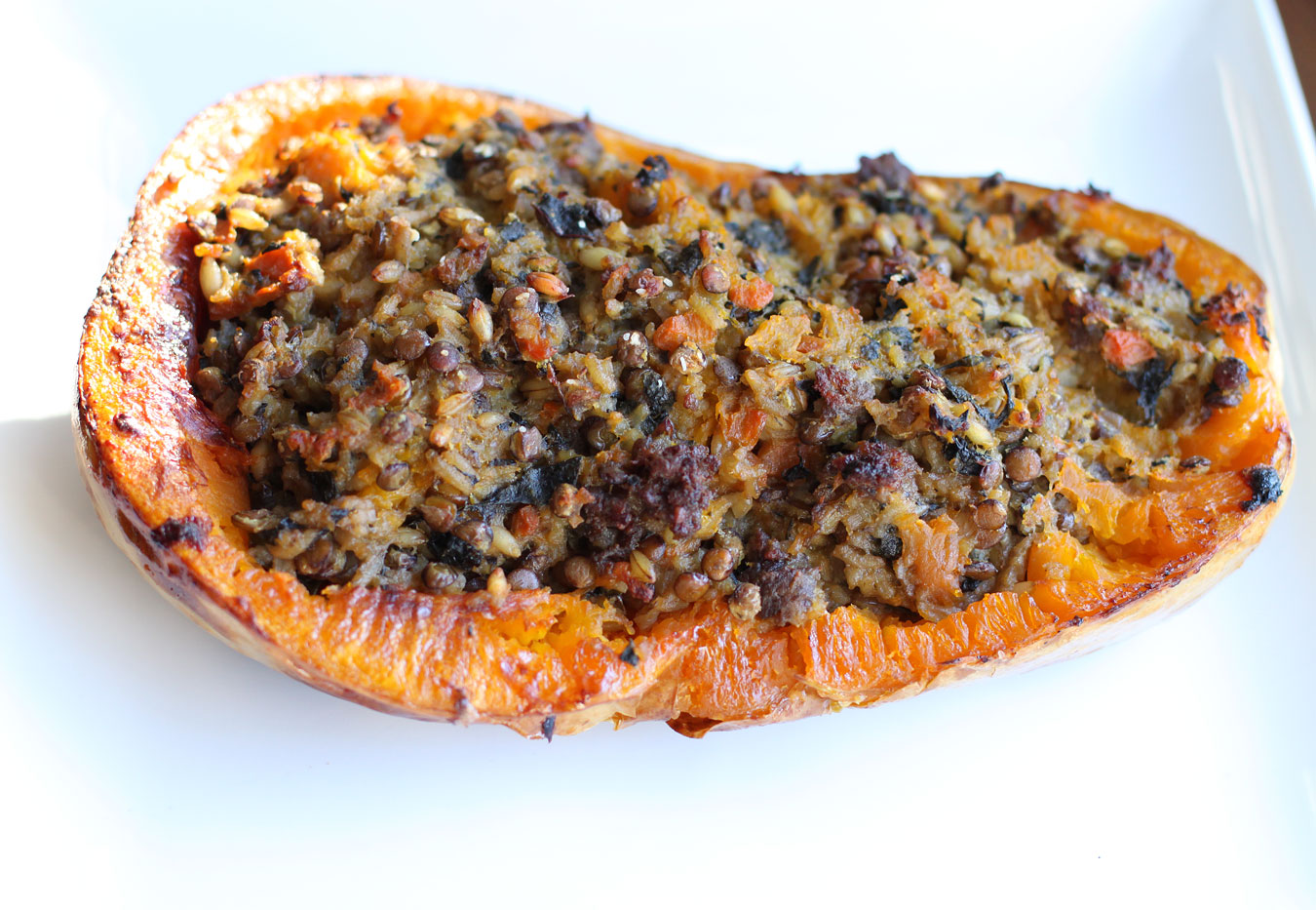Stuffed Butternut Squash with BoereworsSimple Comfort Food