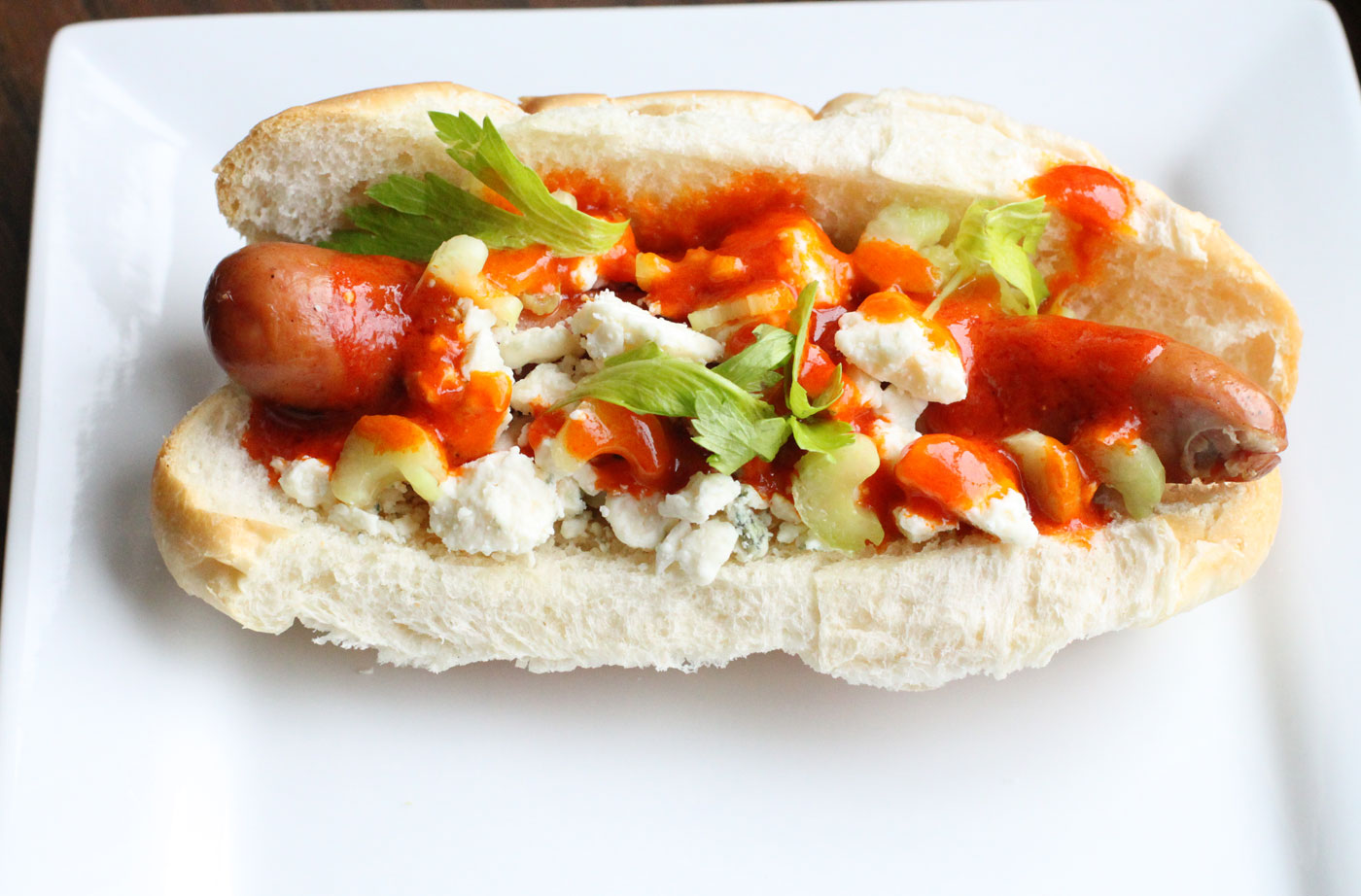 Buffalo Chicken Hot Dogs – Simple Comfort Food – Recipes that are ...