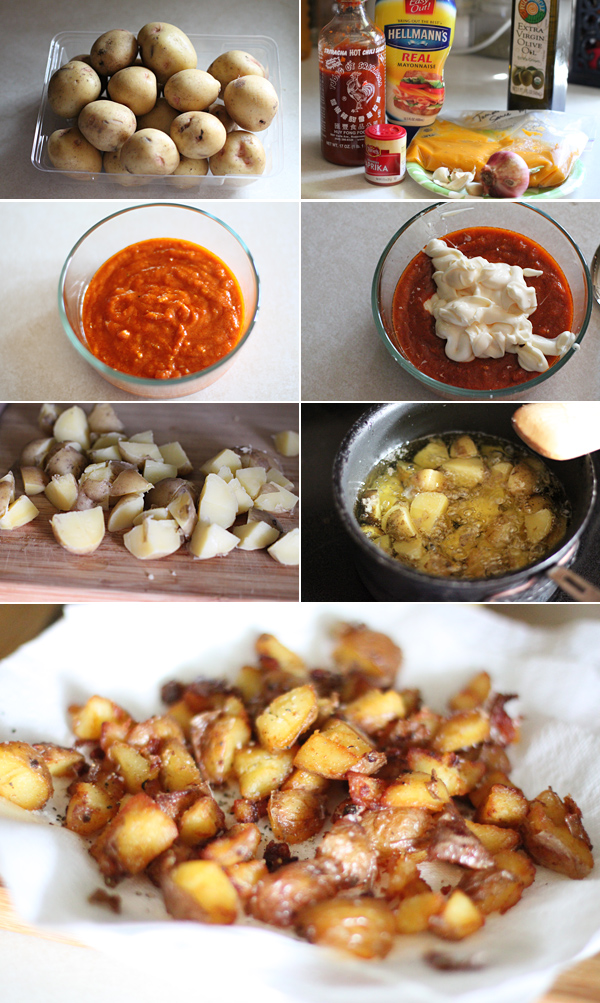 How to make patatas bravas recipe