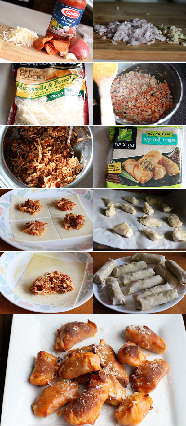 How to make pizza egg rolls