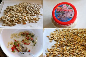 How to make Thai style roasted pumpkin seeds