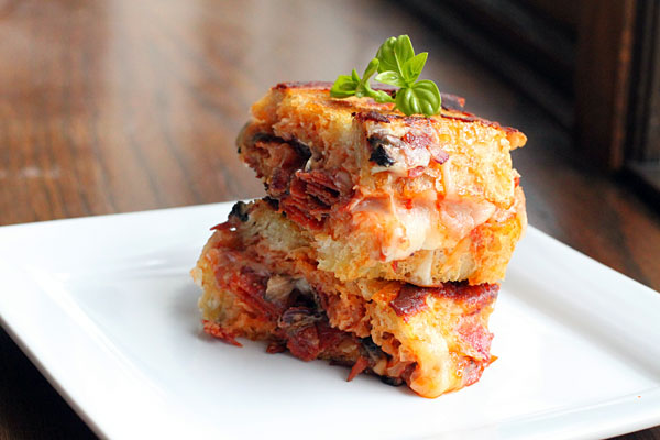 Pizza Style Grilled Cheese Sandwich