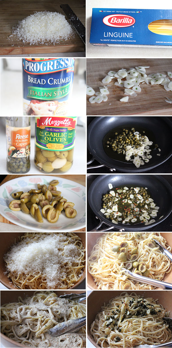 Linguine with Cauliflower and Green Olives