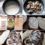 Mushroom and French Bread Pizza