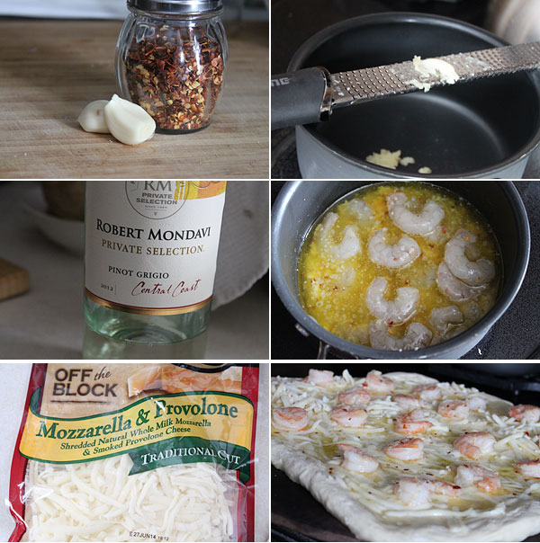 How to make a shrimp scampi pizza
