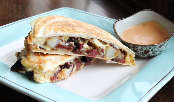 Corned Beef Hash Quesadilla