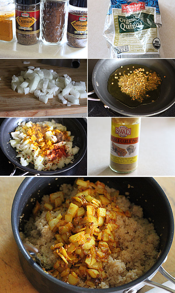How to make curried quinoa