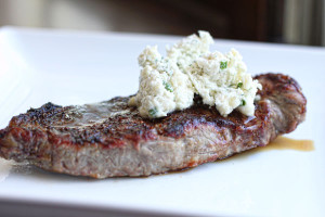 New York Strip with Blue Cheese Butter