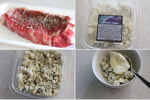 How to make New York Strip with Blue Cheese Butter