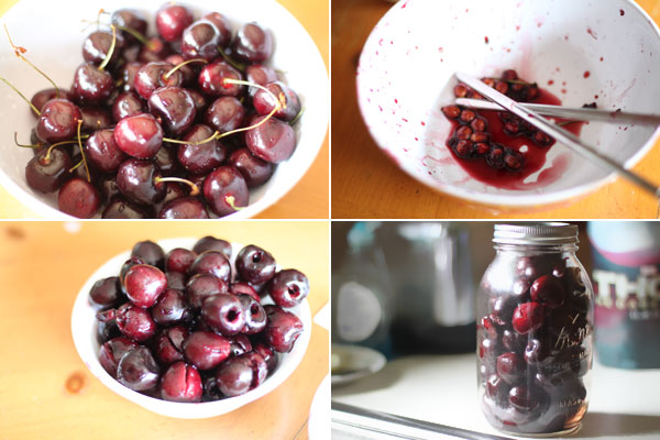 How to make vodka macerated cherries