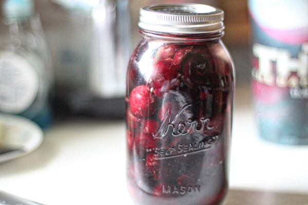 Vodka Macerated Cherries