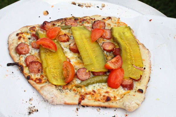 Chicago Style Hot Dog Pizza