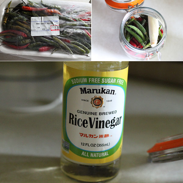 How to make pickled Thai Chilies