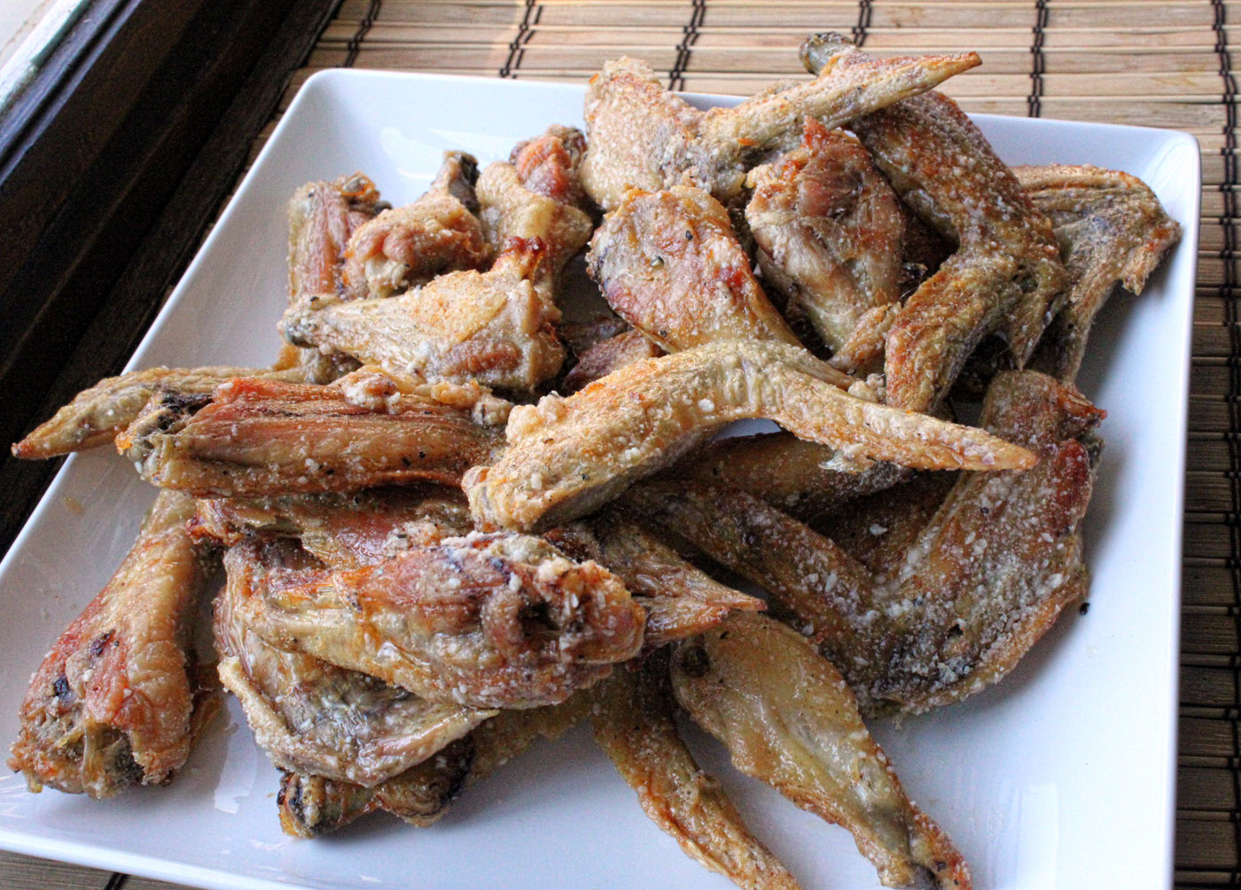 thing about these wings (besides everything) is that they are baked ...