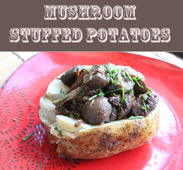 Mushroom Stuffed Potatoes