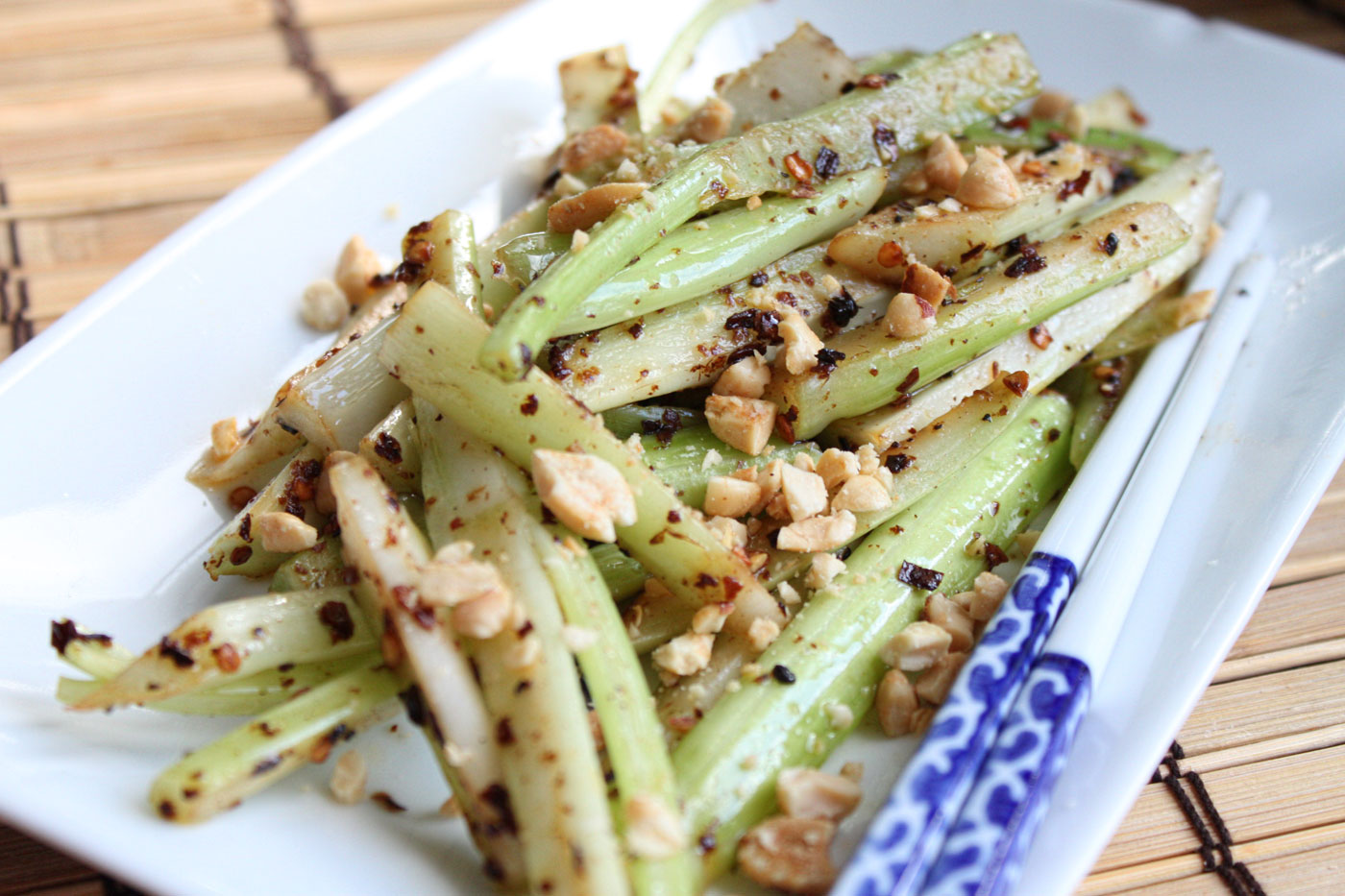 celery and turn it into a spicy stir fried celery
