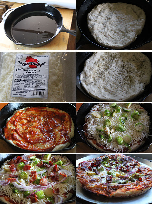 How to make a bacon and brussel sprouts pizza