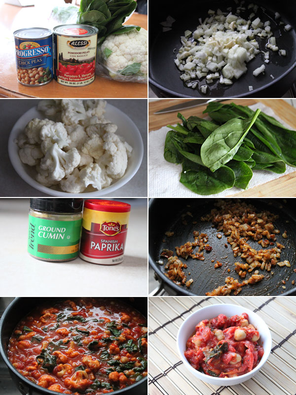 How to make chickpeas and cauliflower stew