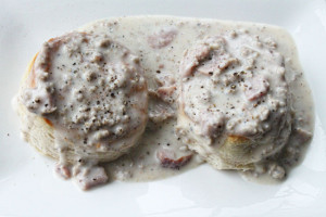 Ham and Sausage Biscuits and Gravy Recipe
