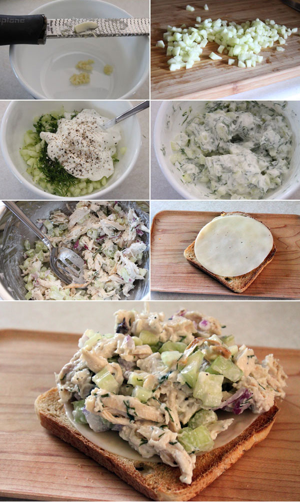 Tzatziki Chicken Salad Sandwich