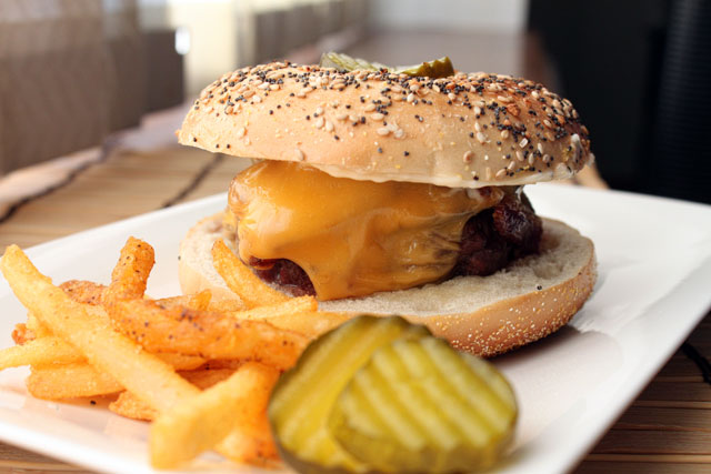 The Everything Bagel Cheeseburger