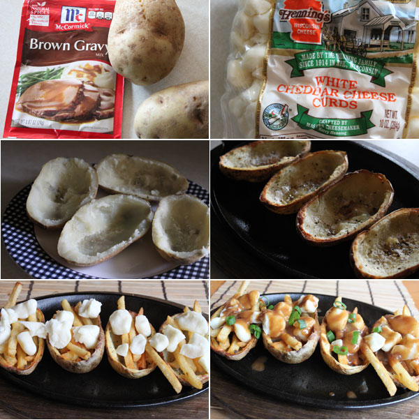 How to make poutine potato skins