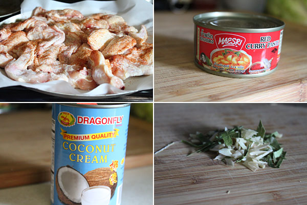 Thai Curry Chicken Wings Ingredients