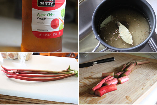 Pickled Rhubarb Ingredients