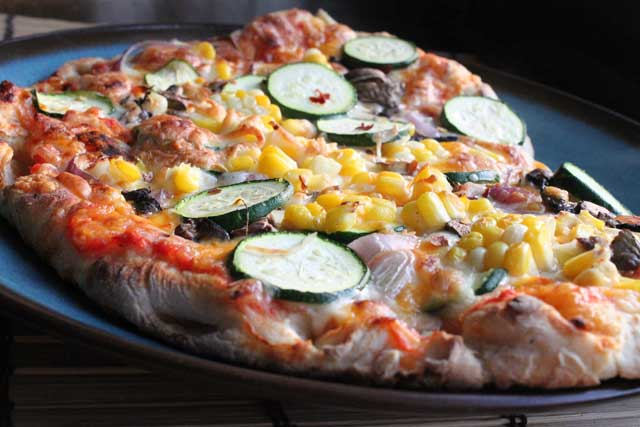 Corn and Zucchini Pizza Recipe