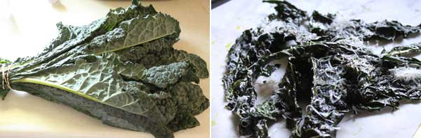 How to make kale and parmesan chips
