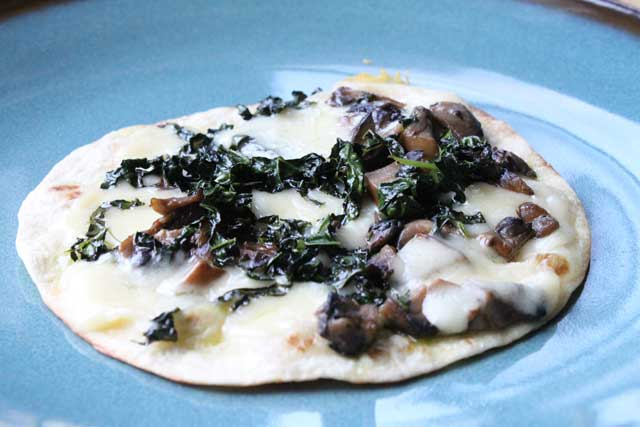 Kale and Mushroom Quesadilla Recipe