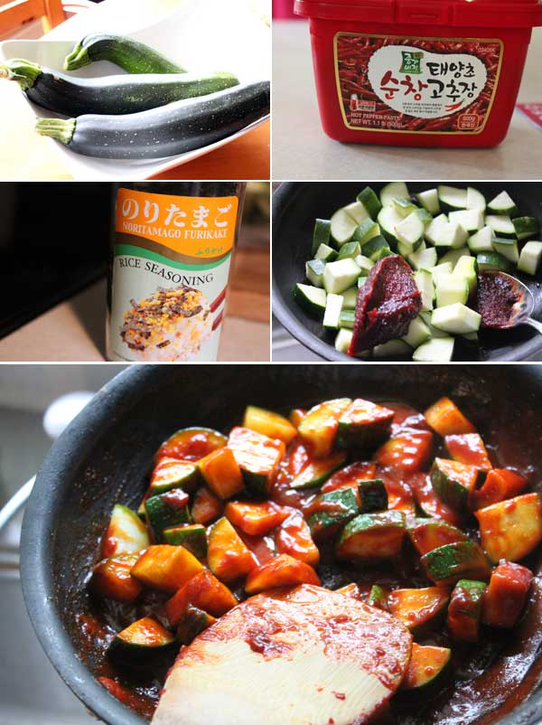 Korean Style Zucchini Ingredients