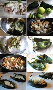 How to make stuffed poblano peppers