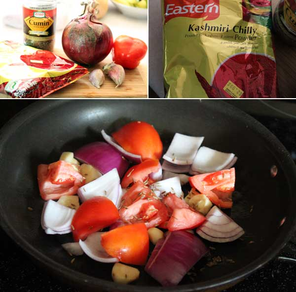 Indian Red Chutney Ingredients
