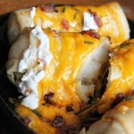 Loaded Baked Potato Egg Rolls