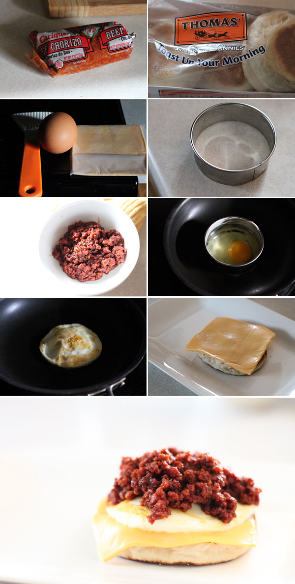 How to make a Mexican chorizo  egg mcmuffin