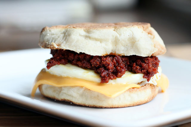 Mexican Chorizo Egg McMuffin Recipe
