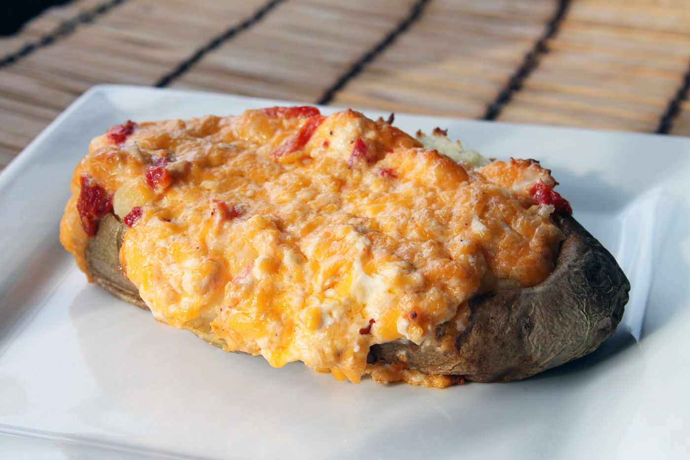 Twice baked pimento cheese potatoes simple comfort food recipes twice baked pimento cheese potatoes recipe forumfinder Choice Image