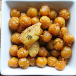 Skillet Fried Chickpeas with Garlic and Herbs