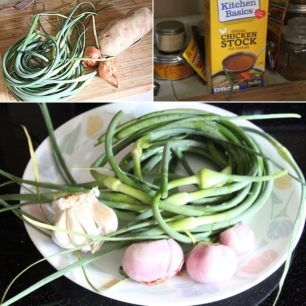 Roasted Garlic Scape Soup Recipe