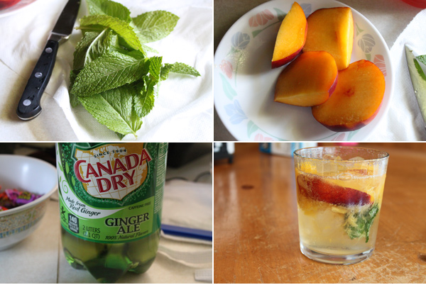Peach and Mint Spritzer Recipe