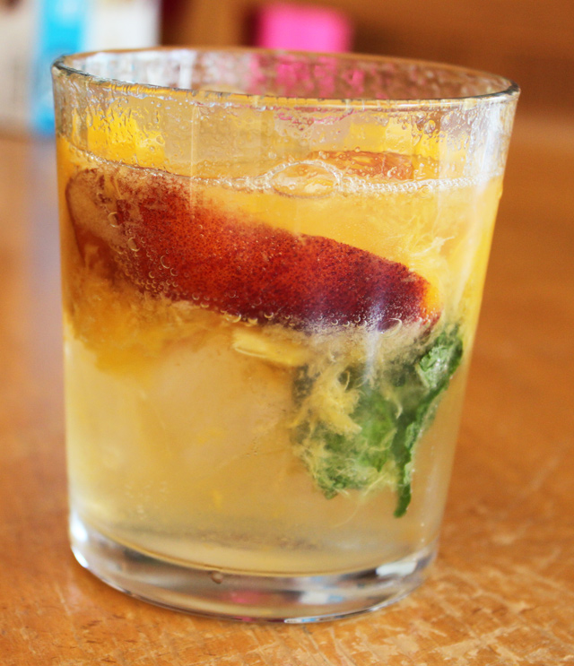 Peach and Mint Soda