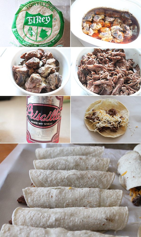 Slow Cooked Beer Braised Beef Taquitos Recipe
