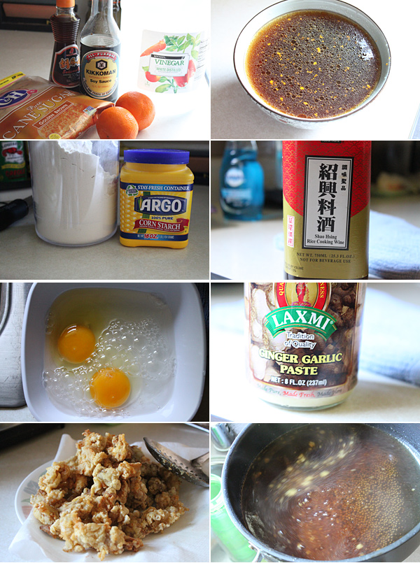 Chinese Orange Chicken Ingredients