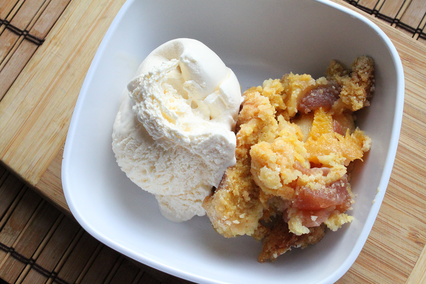Apple and Peach Dump Cake Recipe