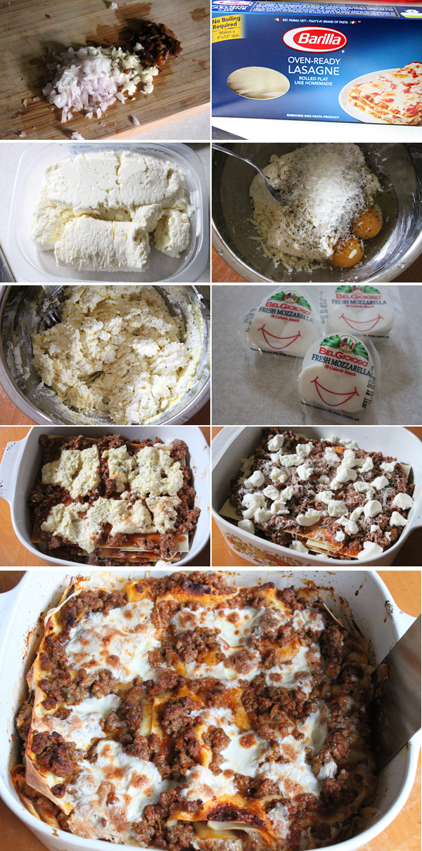 Lasagna with Quark Cheese Ingredients