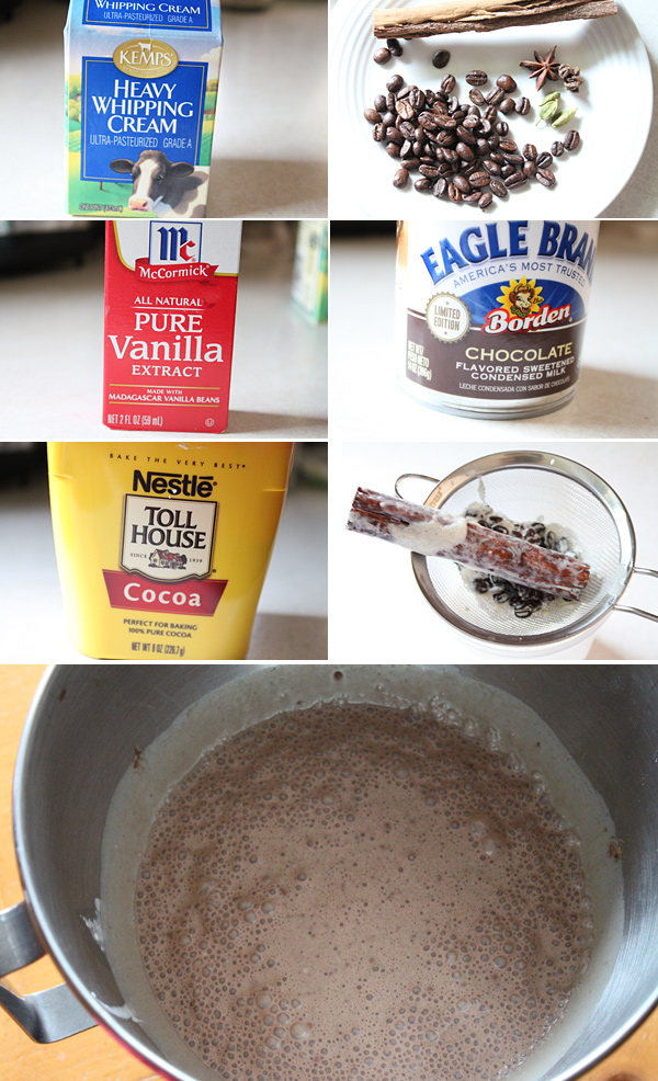 No Churn Chocolate Ice Cream Recipe Ingredients