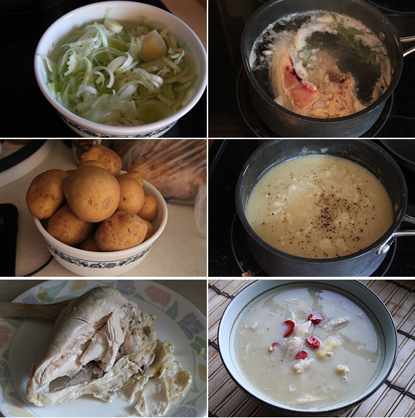 Potato, Leek, and Chicken Soup Recipe