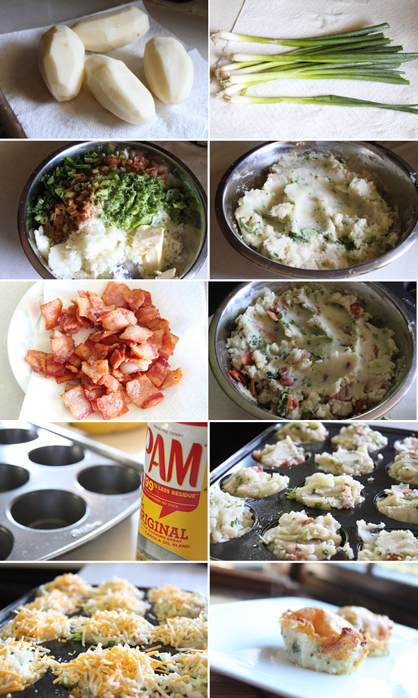 Loaded Baked Potato Muffin Ingredients
